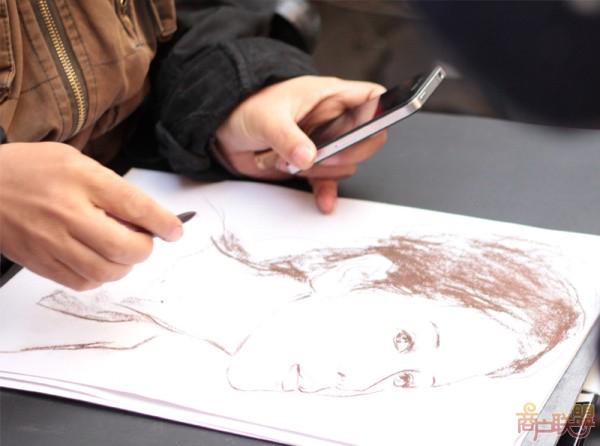 艺术家的简笔画(或者是速写)
