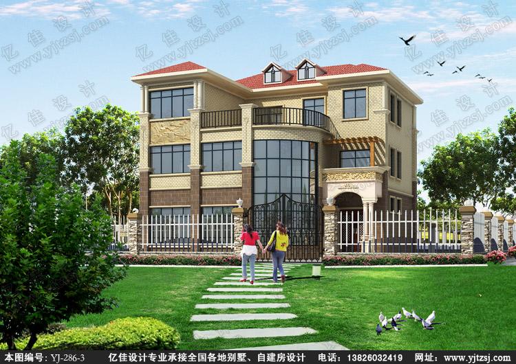 亿佳设计:三层豪华欧式别墅设计图
