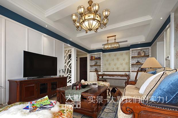 壁墅客厅画图片