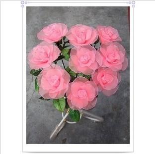 纯手工制作玫瑰丝网花,有兴趣的进来看下吧图片