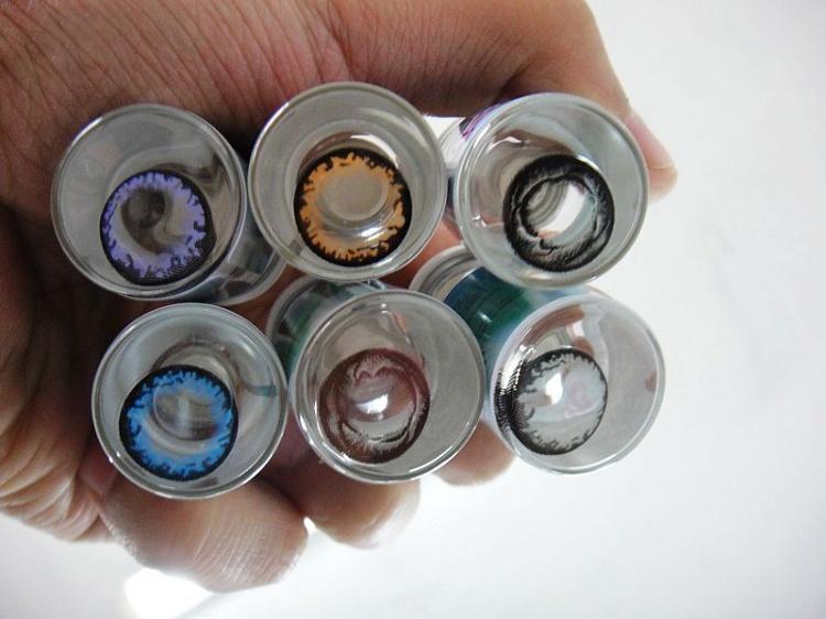 出售正品美瞳 bobo三色 七彩钻石 3d波板糖 蕾丝公主 英高清图片